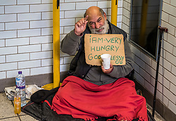FILE IMAGE © Licensed to London News Pictures. 22/10/2019. London, UK. A homeless man in his makeshift home in Westminster Tube walk way under Whitehall, yards from the Houses of Parliament. Pictures highlight the reality of homelessness in Westminster taken during the build up of Brexit and the General election just a few hundreds yards from Parliament and Downing Street. Photo credit: Alex Lentati/LNP