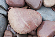 Closeup of coloured pebbles at the top of Kilve Beach.