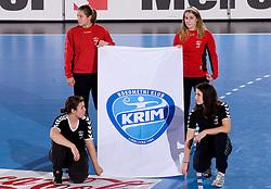 RK Krim at handball match of Round 3 of Champions League between RK Krim Mercator and Hypo Niederosterreich, on November 8, 2009, in Arena Kodeljevo, Ljubljana, Slovenia.  Krim won 35:24. (Photo by Vid Ponikvar / Sportida)