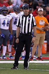 NORMAL, IL - September 08: Brad Brunet during 107th Mid-America Classic college football game between the ISU (Illinois State University) Redbirds and the Eastern Illinois Panthers on September 08 2018 at Hancock Stadium in Normal, IL. (Photo by Alan Look)