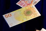Perspreview 50 jaar Koninklijk Paleis Amsterdam.<br /> <br /> Op de foto: 50 - Gulden , zonnebloem