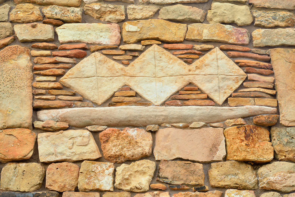Architectural details in the tower at Desert View, Grand Canyon National Park, Arizona, USA
