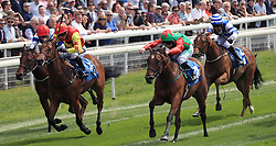 Signora Cabello ridden by Jason Hart (second right) wins the Langleys Solicitors British EBF Marygate Fillies' Stakes during day three of the 2018 Dante Festival at York Racecourse.