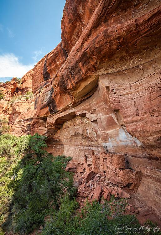 Anasazi dwellings at Wapatki Heritage site near Sedona, Arizona.