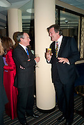 SIMON JENKINS; STEPHEN FRY, Graydon Carter hosts a dinner to celebrate the reopening og the American Bar at the Savoy.  Savoy Hotel, Strand. London. 28 October 2010. -DO NOT ARCHIVE-© Copyright Photograph by Dafydd Jones. 248 Clapham Rd. London SW9 0PZ. Tel 0207 820 0771. www.dafjones.com.