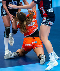 Larissa Nusser of Netherlands in action during the Women's EHF Euro 2020 match between Netherlands and Norway at Sydbank Arena on december 10, 2020 in Kolding, Denmark (Photo by RHF Agency/Ronald Hoogendoorn)