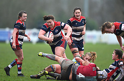Ellie Mulhearn of Bristol Ladies with the ball - Mandatory by-line: Paul Knight/JMP - 03/02/2018 - RUGBY - Cleve RFC - Bristol, England - Bristol Ladies v Harlequins Ladies - Tyrrells Premier 15s