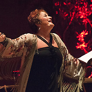 """Lucy Shelton performs Reinbert de Leeuw's Im wunderschönen Monat Mai (""""In the Merry Month of May""""), a cycle of 21 songs on Schumann and Schubert at the 66th Ojai Music Festival on June 8, 2012 in Ojai, California."""