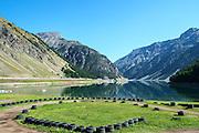dammed Lake, Italy, Lombardy near Brescia