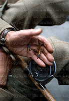 Fly fishing in Scotland. Photographed by Terry Fincher