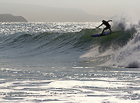 Surf photography from Freshwater Bay on the Isle of Wight, on the south coast of England