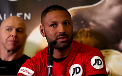 Kell Brook during the press conference at Sheffield Town Hall.