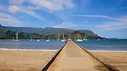 Hanalei Pier, Hanalei Beach, Kauai, Hawaii