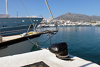 Yachts, marina, harbour, Puerto Banus, Marbella, Spain, April, 2016, 201604142415<br /> <br /> Copyright Image from Victor Patterson, 54 Dorchester Park, Belfast, UK, BT9 6RJ<br /> <br /> t1: +44 28 9066 1296 (from Rep of Ireland 048 9066 1296)<br /> t2: +44 28 9002 2446 (from Rep of Ireland 048 9002 2446)<br /> m: +44 7802 353836<br /> <br /> e1: victorpatterson@me.com<br /> e2: victorpatterson@gmail.com<br /> <br /> The use of my copyright images is subject to my Terms & Conditions.<br /> <br /> It is IMPORTANT that you familiarise yourself with them. They are available on my website at www.victorpatterson.com.<br /> <br /> None of my copyright images may be used on a website unless they are visibly watermarked, i.e. © Victor Patterson within the body of the visible image. Metadata denoting my copyright must NOT be deleted. <br /> <br /> Web use is extra at currently recommended NUJ rates.