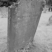 Crooked Headstone - Avebury, UK - Infrared Black & White