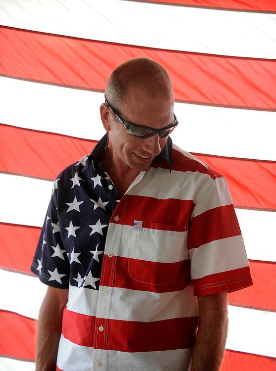 Celebrating Fourth of July.
