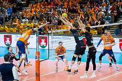Vilimanovic Andrija of ACH Volley and Cody Kessel of Berlin Recycling Volley during Champions League match between ACH Volley Ljubljana and Berlin Recycling Volleys<br /> , on February 12, 2020 in Hala Tivoli, Ljubljana, Slovenia. Photo by Ziga Zupan / Sportida