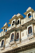 The City Palace in Udaiper, also known as the City of Lakes, Rajasthan, India