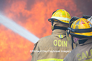 63818-02616 Firefighters at oilfield tank training, Marion Co., IL