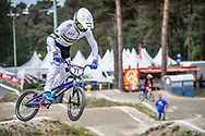 #77 (SAKAKIBARA Kai) AUS during practice at Round 5 of the 2018 UCI BMX Superscross World Cup in Zolder, Belgium