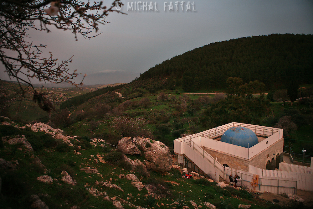 A general view of the grave of Yonatan ben Uziel at Amukah in the Galilee in Israel. Over the centuries the tradition developed that those seeking for their soul-mates would be married within one year if they prayed at Rabbi Ben-Uziel's tomb.