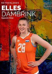 Elles Dambrink of Netherlands, Photoshoot selection of Orange women's volleybal team season 2021on may 12, 2021 in Arnhem, Netherlands (Photo by RHF Agency/Ronald Hoogendoorn)