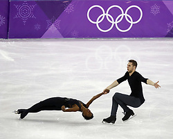 February 15, 2018 - Pyeongchang, KOREA - Vanessa James and Morgan Cipres of France compete in pairs free skating during the Pyeongchang 2018 Olympic Winter Games at Gangneung Ice Arena. (Credit Image: © David McIntyre via ZUMA Wire)