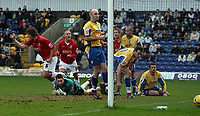 Photo: Paul Thomas.<br /> Mansfield Town v Walsall. Coca Cola League 2. 20/01/2007.<br /> <br /> Ian Roper (L) runs off to celebrate his goal for Walsall.