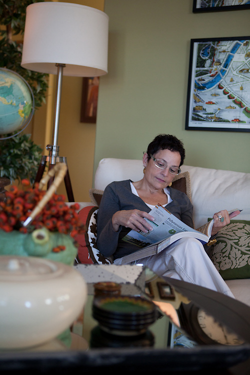 17 November 2011- Gayle Reyes is photographed in her home Omaha Magazine.