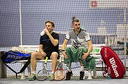Tone Komar, Marko Lopatic na drzavnem prvenstvu veteranskih dvojic v tenisu, 24. marec 2018, BTC Millenium center, Ljubljana, Slovenia. Photo by Vid Ponikvar / Sportida