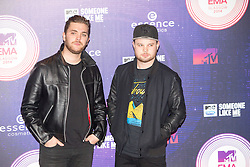 Mike Kerr and Ben Thatcher of Royal Blood.<br /> Red carpet at the MTV EMA, Glasgow.