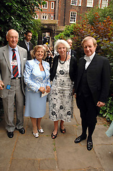 Left to right, VISCOUNT MONTGOMERY OF ALAMAIN, LADY BRENNAN, BARONESS HAYMAN and Black Rod SIR MICHAEL WILLCOCKS at the 20th annual House of Lords v House of Commons Tug of War in aid of Macmillan Cancer Support held on Abingdon Green, Westminster, London on 13th June 2007.<br /><br />NON EXCLUSIVE - WORLD RIGHTS
