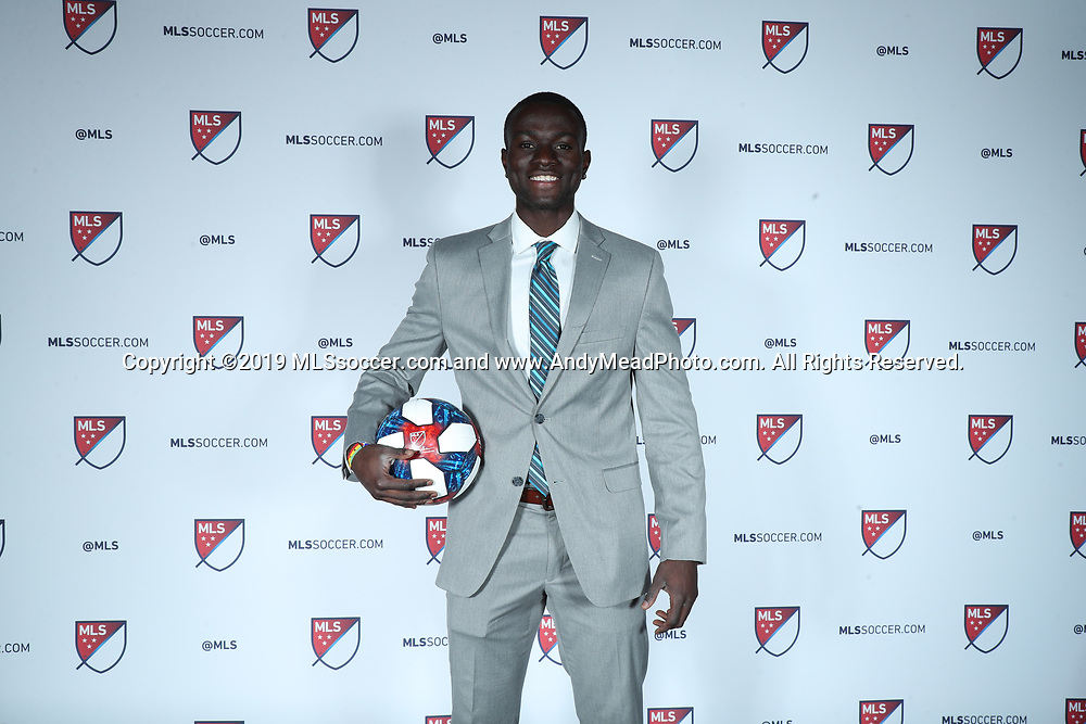 CHICAGO, IL - JANUARY 11: Roy Boateng was taken with the sixteenth overall pick by New York Red Bulls. The MLS SuperDraft 2019 presented by adidas was held on January 11, 2019 at McCormick Place in Chicago, IL.