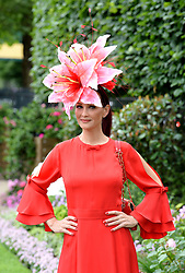 A racegoer during day one of Royal Ascot at Ascot Racecourse