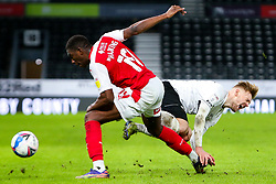 Kamil Jozwiak of Derby County screams after a challenge against Wes Harding of Rotherham United - Mandatory by-line: Ryan Crockett/JMP - 16/01/2021 - FOOTBALL - Pride Park Stadium - Derby, England - Derby County v Rotherham United - Sky Bet Championship
