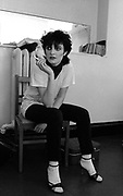 Siouxsie Sioux backstage after a difficult show 1979
