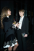 JEMIMA KHAN; KRISTEN SCOTT THOMAS, Party to celebrate Vanity Fair's very British Hollywood issue. Hosted by Vanity Fair and Working Title. Beaufort Bar, Savoy Hotel. London. 6 Feb 2015