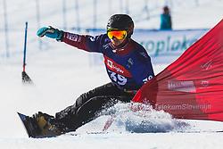 Darren Gardner (CAN) during parallel slalom FIS Snowboard Alpine World Championships 2021 on March 2nd 2021 on Rogla, Slovenia. Photo by Grega Valancic / Sportida