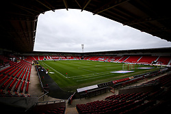 A General view of The Keepmoat Stadium, home to Doncaster Rovers - Mandatory by-line: Robbie Stephenson/JMP - 26/09/2020 - FOOTBALL - The Keepmoat Stadium - Doncaster, England - Doncaster Rovers v Bristol Rovers - Sky Bet League One