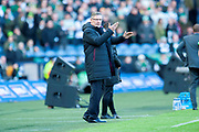 Craig Levein, manager of Heart of Midlothian during the Betfred League Cup semi-final match between Heart of Midlothian FC and Celtic FC at the BT Murrayfield Stadium, Edinburgh, Scotland on 28 October 2018.