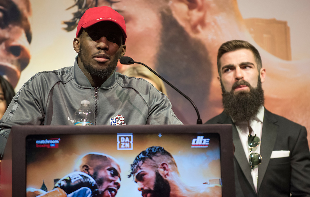 at the press conference for Matchroom Boxing in Philadelphia, March 13, 2019. <br /> <br /> Jack Megaw. All Rights Reserved.