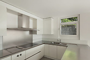 modern house, stove top of a domestic kitchen