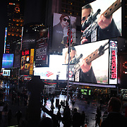 A view of Times Square Manhattan, showing an advert for the new Cold War drama series The Americans. Times Square, New York, USA. 16th January 2013. Photo Tim Clayton..