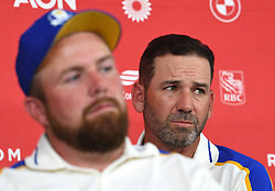 Team Europe's Sergio Garcia during a press conference after defeat to Team USA at the end of day three of the 43rd Ryder Cup at Whistling Straits, Wisconsin. Picture date: Sunday September 26, 2021.