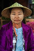 Portrait of a Burmese lady, Mandalay