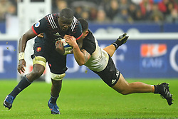 France 's Judicael Cancoriet during a rugby union international match at Stade de France stadium in Saint Denis, outside Paris, France, Saturday, Nov. 11, 2017Photo by Christian<br /> Liewig/ABACAPRESS.COM