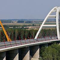 0707239276a Ferenc Gyurcsany and Janos Koka at the celebration of the newly built record breaker Pentele Bridge over river Danube at Dunajuvaros, Hungary. Monday, 23. July 2007. ATTILA VOLGYI