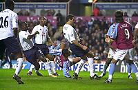 Fotball<br /> Premier League England 2004/2005<br /> Foto: SBI/Digitalsport<br /> NORWAY ONLY<br /> <br /> 22.11.2004<br /> <br /> Aston Villa v Tottenham Hotspur<br /> FA Barclays Premiership, Villa Park<br /> <br /> Aston Villa's Nolberto Solano (#11) puts his side 1-0 in front.