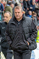 Gillingham FC interim caretaker manager Mark Patterson  during the EFL Sky Bet League 1 match between Gillingham and Charlton Athletic at the MEMS Priestfield Stadium, Gillingham, England on 27 April 2019.