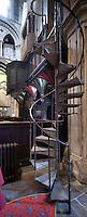 Spiral stairs to organ loft at Hexham Abbey